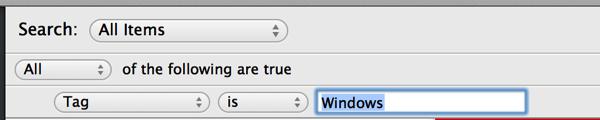 1Password smart folder dialog tag is windows