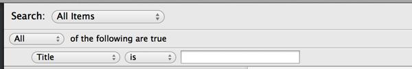 Smart Folder UI with no settings
